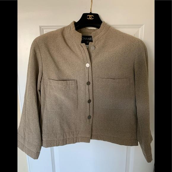 CHANEL Jackets & Blazers - Genuine CHANEL Beige BOUCLE' dinner jacket
